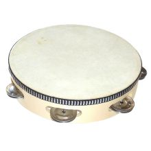Tamburin med skinn, 20 cm