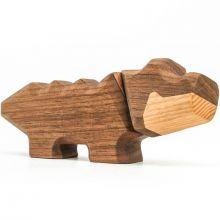 FableWood, magnetisk träleksak - Liten Krokodil