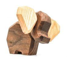 FableWood, magnetisk träleksak - Liten Elefant