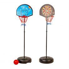 2-i-1 basketkorg och dartskiva