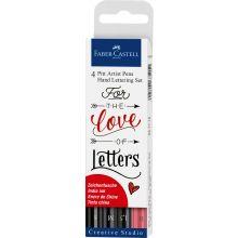 Hand Lettering, Pitt artist Penna, 4 stk