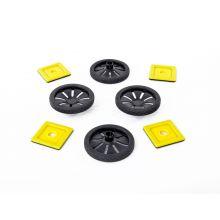MAG Polydron | Tillbehör: Hjul | 8 delar