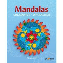 Mandalas Målarbok med Dinosaurier