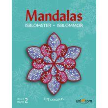 Mandalas Målarbok med Äventyrliga Isblommor