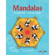 Mandalas Målarbok med Djur WWF