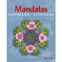 Mandalas Målarbok med Blommor och Bär