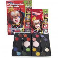 Ansiktsfärg - Palett med 16 färger och idéer