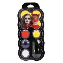 Ansiktsfärger - Halloween, palett med 4 färger