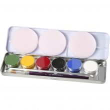 Ansiktsfärg - Palett med 6 grundfärger