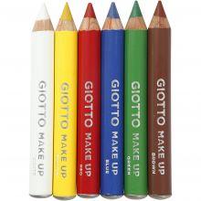 Ansiktsfärg - Sminkpennor, grundfärger, 6 st.