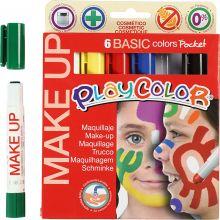 Ansiktsfärg - Make Up-pennor, grundfärger, 6 st.