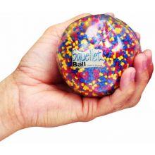 Antistressboll - transparent m. pärlor