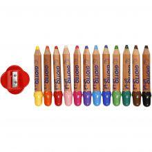 Babyfärgpennor - Blandade färger, 12 st.