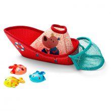 Badlek - Fiskebåt med 3 fiskar