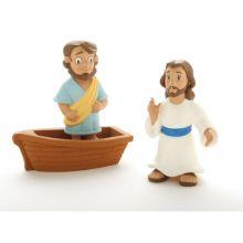 Bibliskt figurset - Jesus går på vattnet