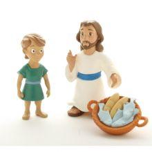 Bibliskt figurset - Jesus mättar 5000