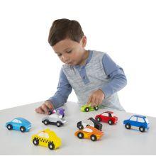 Träbilar - Små fordon - 9 fordon