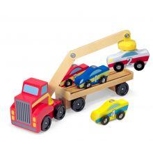 Biltransport - Magnetisk m. 4 bilar