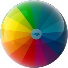 Boll i regnbågsfärger - 15 cm.