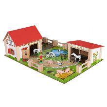 Bondgård med djur och tillbehör, 25 delar