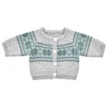 Dockkläder - Stickad tröja med mönster - Flera sto