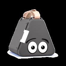 Teebee förvaringslåda inkl. ritutrustning - Grå