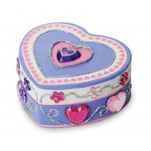 Deko-set - Hjärtformad ask