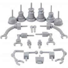 Dekoreringsdetaljer - Robot, 19 st.