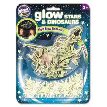 Glow - Dinosaurier + stjärnor, 43 delar