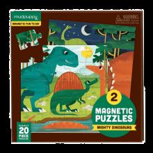 Magnetiskt pussel - Dinosaurie, 2 x 20 bitar