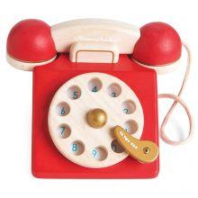Honeybake - Telefon med nummerskiva i trä