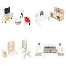 Dockhus tillbehör - Möbelset till 4 rum