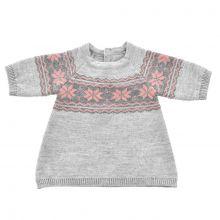 Dockkläder - Stickad klänning med mönster - Flera