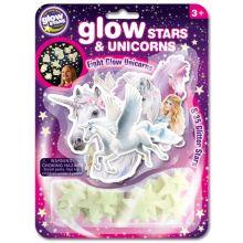 Glow - Enhörningar + stjärnor, 4 delar