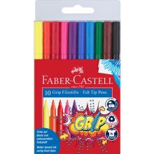 Faber Castell Tuschpennor Grip 10 st.