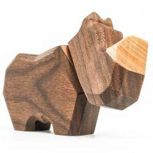 FableWood, magnetisk träleksak - Liten Noshörning