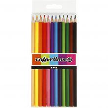 Färgpennor - Blandade färger, 12 st.