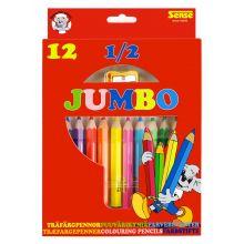 Färgpennor 1/2 Jumbo 12 st.