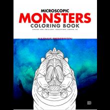 Färgläggningsbok - Mikro-monster