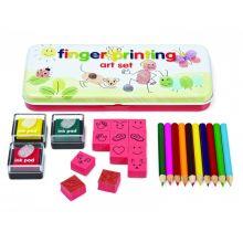 Fingeravtrycks- och kreativitetsset m. stämplar