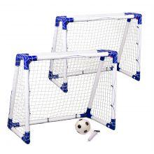 Fotbollsmål Junior 2 st. - 110 x 90 x 60 cm.