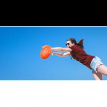 Frisbee - diameter 26,5 cm. (flera färger), 1 st.