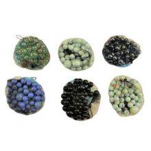 Glaskulor 250 g i påse (blandade färger)