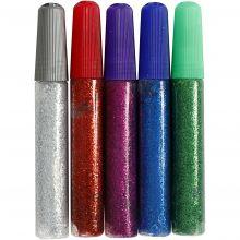 Glitterlim 10 ml. - Flera färger, 5 st.