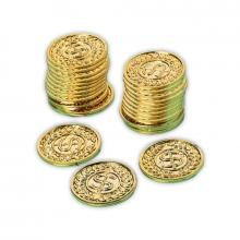 Guldmynt i plast, 72 st.