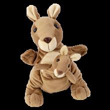 Hand- & Fingerdocka - Kängurumamma med ungar