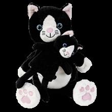 Hand- & Fingerdocka - Kattmamma med kattungar