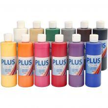 Hobbyfärg 250 ml - Grundfärger, 12 st.