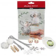 Julpyssel - Änglar på klädnypor