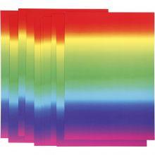Kartong A4 - Regnbågsfärger, 10 ark
